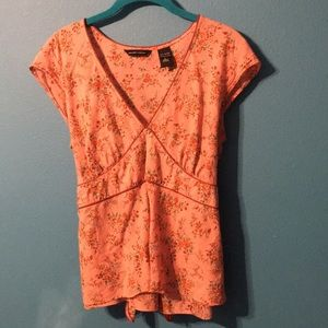 New York & Co tie back summer top
